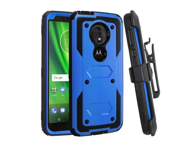 huge selection of 0222c 15646 Moto G6 Play Case,Moto E5 Case,Mignova Heavy Duty Full Body Shockproof  Protective Hard Shell Cover Built-in Screen Protector with Swivel Belt Clip  ...