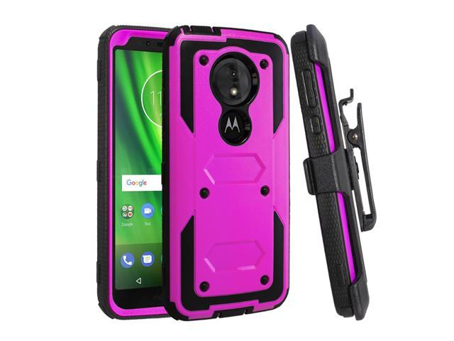 huge selection of 4dc08 998e0 Moto G6 Play Case,Moto E5 Case,Mignova Heavy Duty Full Body Shockproof  Protective Hard Shell Cover Built-in Screen Protector with Swivel Belt Clip  ...