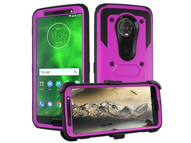 best sneakers f7404 74369 Motorola Moto G6 Case 2018,Mignova Triple Protection Heavy Duty Rugged  Armor Shockproof Full Body Protective Case with Belt Rotating Clip &  Kickstand ...