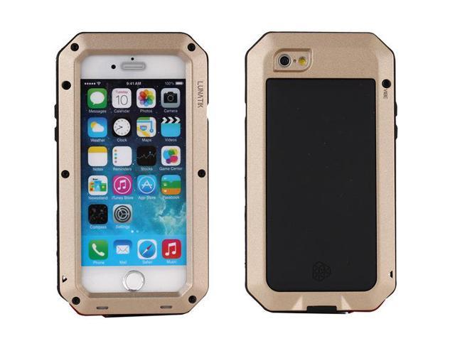 the best attitude 0a0ac 4151c Luxury Doom armor Dirt Shock Waterproof Metal Aluminum cell phone case For  iphone 6S cover+Tempered glass(gold) - Newegg.com