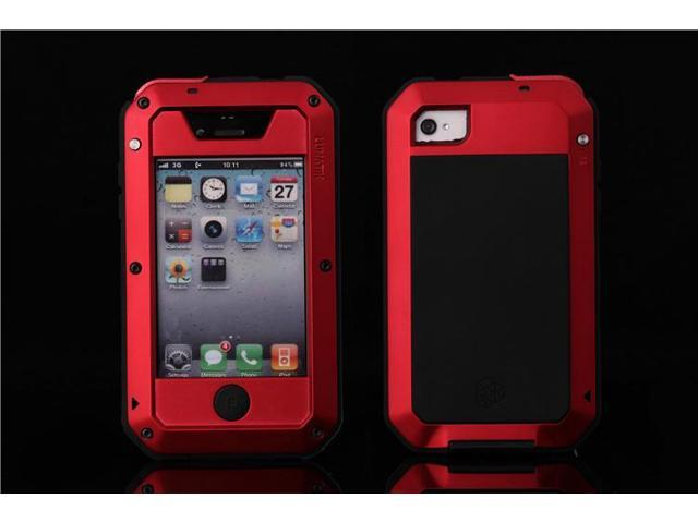 premium selection 6795a 6ec76 Waterproof For iphone 4S case Luxury doom armor Dirt Shock Metal phone  cases For iphone 4S case +Tempered glass(red) - Newegg.com