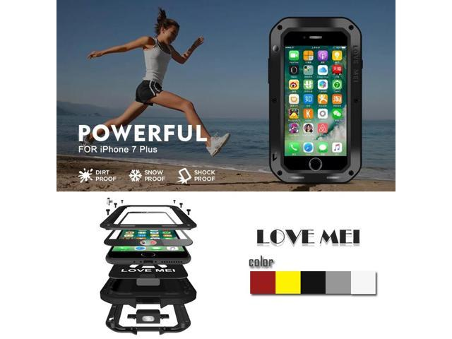 best value 14d35 7d358 for iphone 7 plus 5.5 inch Love Mei waterproof Shockproof aluminum Tempered  Glass Wireless charger phone case for iphone 7 plus - Newegg.com