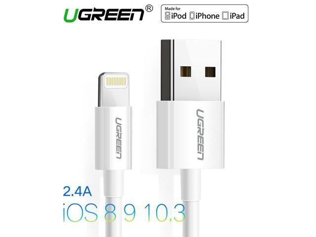 info for d29a4 4a7b8 Ugreen USB Cable for iPhone 6 2.4A MFi Lightning to USB Cable Fast Charger  Data Cable For iPhone 5S 5 7 iPad Mobile Phone Cables - Newegg.com