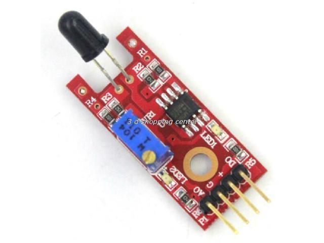 Smart Electronics 4pin KEYES KY-026 IR Flame Sensor Fire Detection Module  Detects Infrared Receiver for Arduino Diy Starter Kit - Newegg com