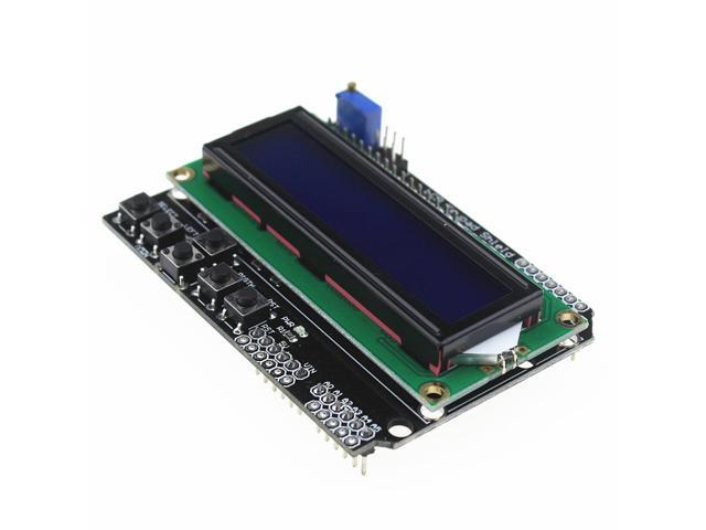 LCD Keypad Shield LCD1602 LCD 1602 Module Display for arduino ATMEGA328  ATMEGA2560 raspberry pi UNO blue screen - Newegg com
