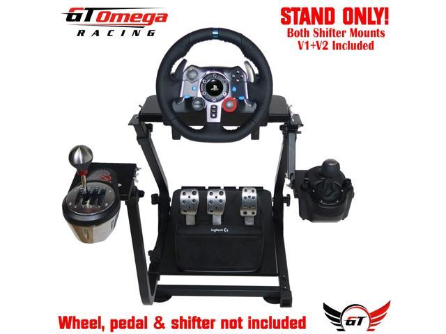GT Omega Steering Wheel Stand + GSV1 and GSV2 Mount  Suitable For  Thrustmaster T300RS/T500RS, Logitech G27/G29/G920 And Fanatec Wheel And  Pedal Sets