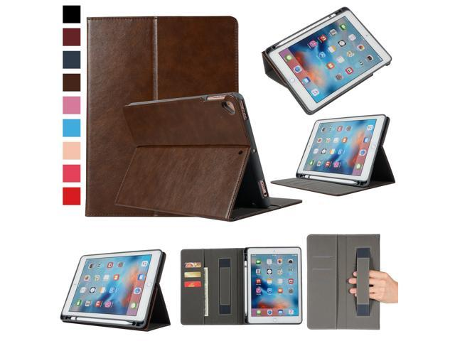 size 40 6661f 98956 Smart PU Case for iPad 9.7 with Apple Pencil Holder and Card Slots,  EpicGadget PU Leather Apple Pencil Holder Case Cover for iPad 9.7 2018,  2017, iPad ...