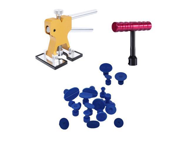 Auto Body Dent Paintless Repair Hail Tools PDR Metal Dent Lifter T Bar Glue  Puller Tabs (20pcs) - Newegg com