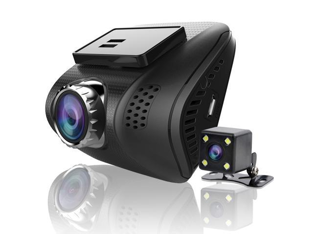 Ampulla Cruiser X Dual Dash Cam, 1080P+720P Front and Rear Cameras
