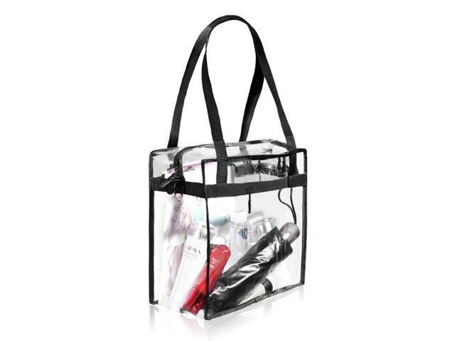 """cd492274f18b Bagail Clear Cross-Body Messenger Shoulder Zippered Bag with Adjustable  Strap, NFL & PGA Stadium Security Approved Travel & Gym Clear Tote Bag-12""""  X ..."""