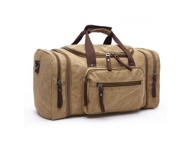 Men Vintage Canvas Travel Bag Tote Luggage Gym Duffle Bag Handbag Weekend  Bag ef53a553602e8