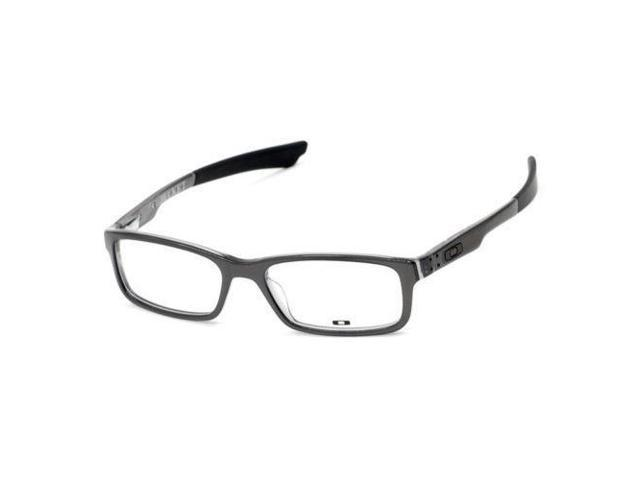 NEW OAKLEY BUCKET OX1060-0153 POLISHED STEEL EYEGLASSES FRAME RX Sz ...