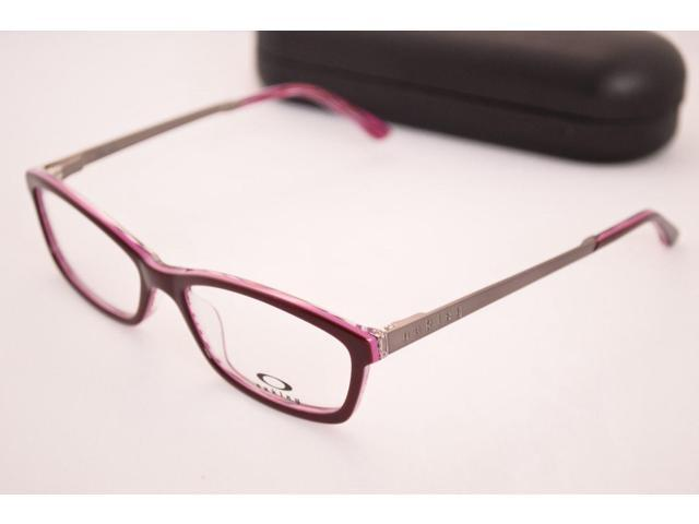 NEW OAKLEY RENDER OX1089-0453 REDLINE PINK CHROME EYEGLASSES FRAME ...