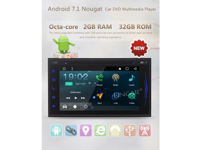 4d3cb7a6e Android 7.1 Double Din In Dash Car GPS Sat Navigation 6.2 inch Touchscreen  Head Unit DVD