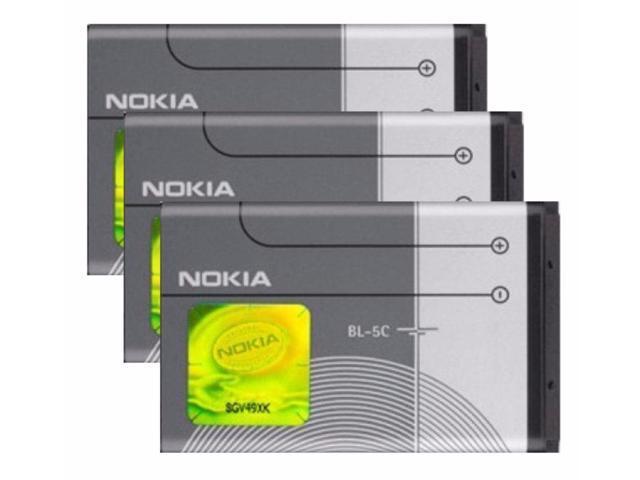 3X 1020mAh Batteries BL-5C for Nokia 1100 2280 3650 6205 6230 6263 6555  6600 - Newegg com