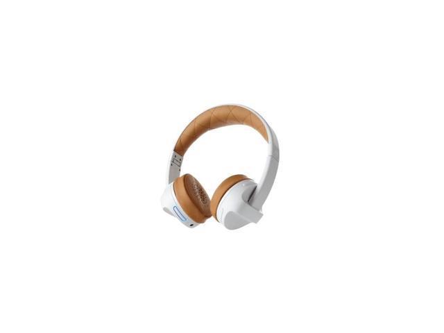 abfd080c941 ifrogz Impulse - Headphones with mic - on-ear - Bluetooth - wireless - 3.5  mm jack - noise isolating - white, tan - Newegg.com