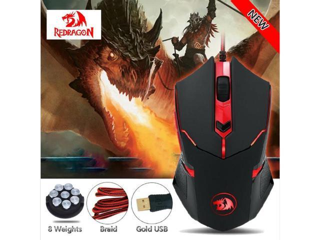Estone Redragon M601 Gaming Mouse Wired With Red Led 3200 Dpi 6