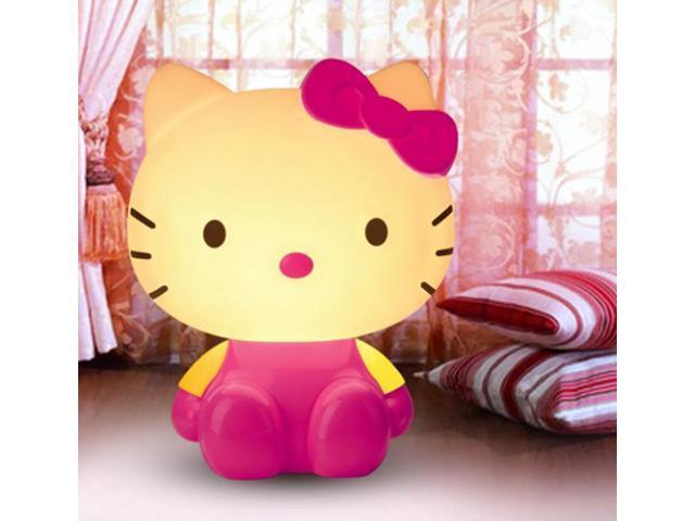 ESTONE Romantic Hello Kitty Night Lights Cartoon Super Cute Lamps Led  Luminaria Table Lamp - Newegg com