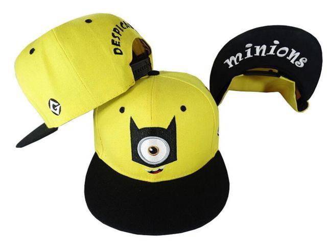 ESTONE Student Teen Adult Baseball Caps Cartoon Character Design Minions  Boys Girls Snapback Caps Adjustable kid 4ee11d14a7c1