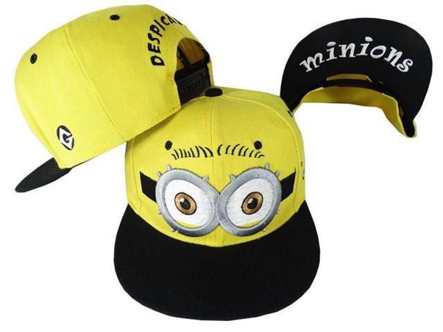 aba0558de92 ESTONE Student Teen Adult Baseball Caps Cartoon Character Design Minions Boys  Girls Snapback Caps Adjustable kid Hats Flat Hip Hop Caps- Eyes