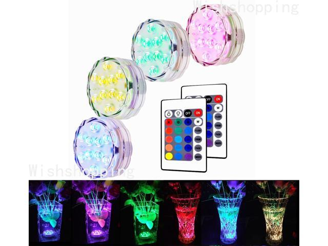 Estone Remote Controlled Submersible Led Lights Color Changing Aaa