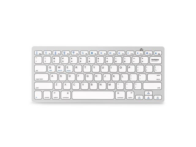 ESTONE Bluetooth 3 0 Ultra Slim Wireless Rechargable Keyboard With  Stainless Stand Cover For iOS/Android and Windows