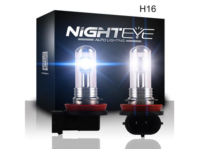 Nighteye Car 5202 9009 H16 Led Fog Light 80w High Power Ultra White Driving Lamp Bulbs Newegg Com