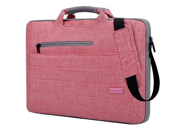 97a6263a4b5f BRINCH 15.6 inch Laptop Bag Laptop Briefcase Fits Up To 15.6 Inch Laptop  Water-Repellent Computer Bag Shoulder Bag For Travel/Business/School, pink  - ...