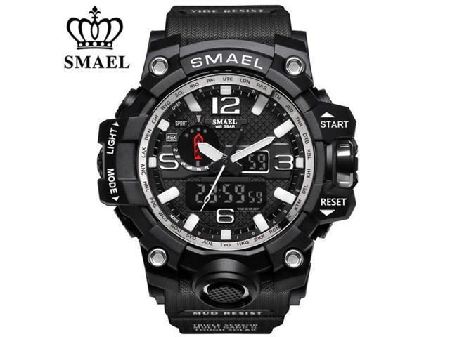 5f2c051b313d Sport LED Digital SMAEL hombres reloj cuarzo relojes reloj militar moda  buceo para hombre reloj SL1545 - negro plateado - Newegg.com