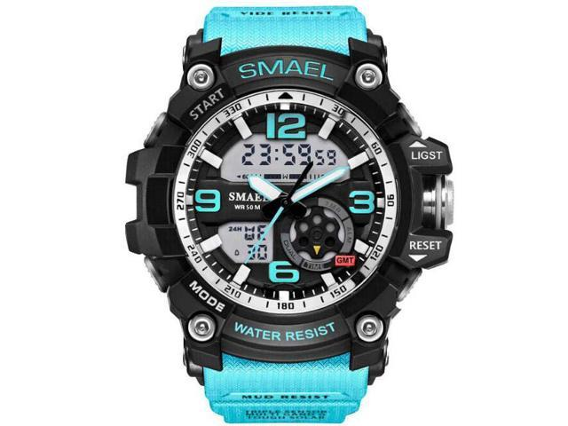SMAEL Multi Function Military S-shock Camouflage Sports Watch LED Digital Waterproof Alarm Watches with