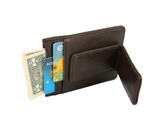 be39a92ee970 Artmi Mens Card Holder Strong Money Clip Wallet RFID Blocking Card Case  Leahter Wallet