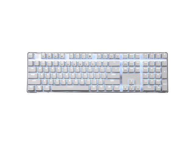 Mechanical Keyboard Gaming Keyboard Brown Switch 100% Full Size 108 keys  GATERON switch with White Backlight Case White Magicforce - Newegg com