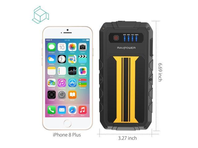 for All 12V 2.0 L Gas Engines Car Jump Starter RAVPower 300A Peak Current Built-in Flashlight 8000mAh External Battery Pack Quick Charge Portable Jumper Power Bank Power Pack Car Battery Booster