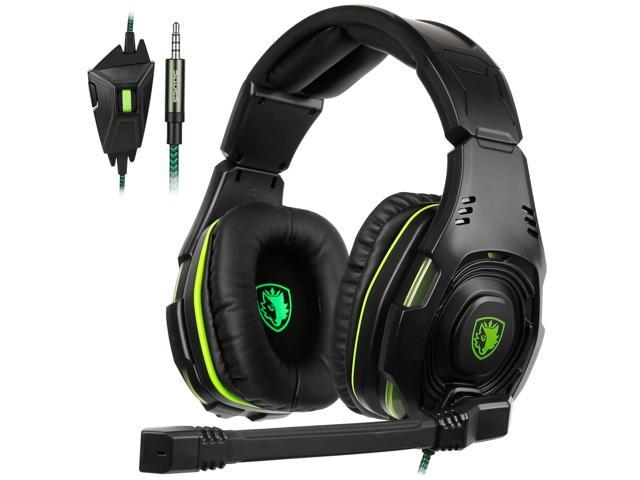 SADES SA938 Multi-Platform Gaming Headset With Mic 3 5mm Jack IN-LINE  Volume Control Over-ear Gaming Headphones For New Xbox  One/PC/PS4/Smartphones -