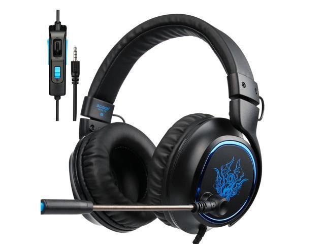 PS4 Gaming Headset SADES R5 Over-ear Stereo Bass New Xbox One Gaming  Headphones with Microphone 3 5mm Plug Noise Cancelling Headset with Mic  Control