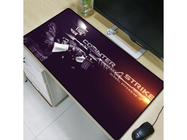 WHFDSBD600X300 900X400Mm Large Gaming Flower Mousepad Black Mouse Pad Lock Edge Laptop Pc Game