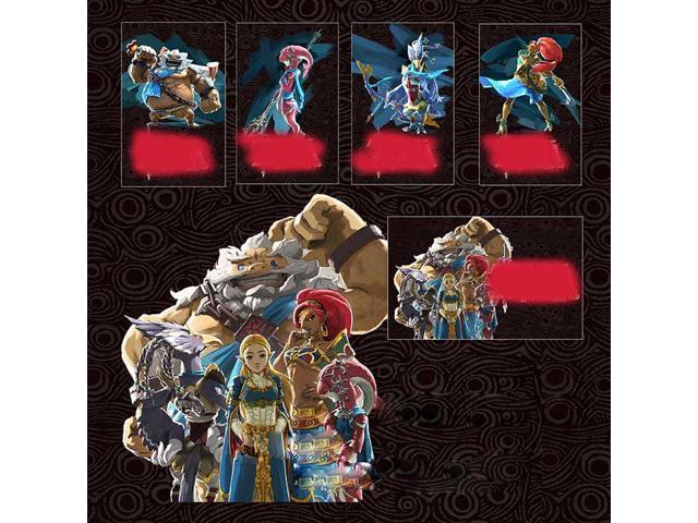 New 4 Champions Mipha Urbosa Revali Daruk ZELDA BOTW AMIIBO NFC Tag Cards  Game Toys for NS Switch Wii U - Newegg com