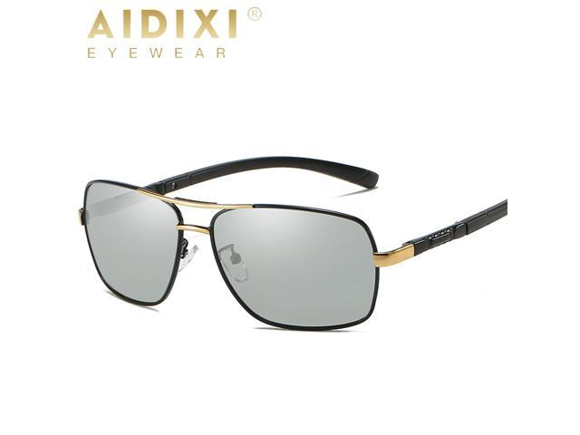 754a6fd423 AIDIXI Fashion Men Photochromic Glass Lens HD Polarized Sunglasses