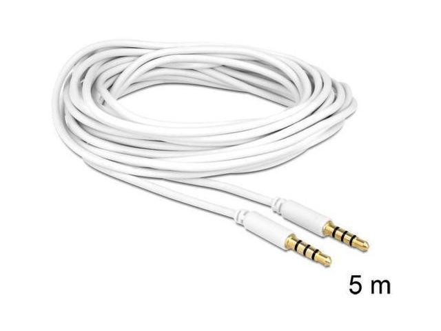 delock cable stereo jack 3 5 mm 4pin male u0026gt male 5m ideal
