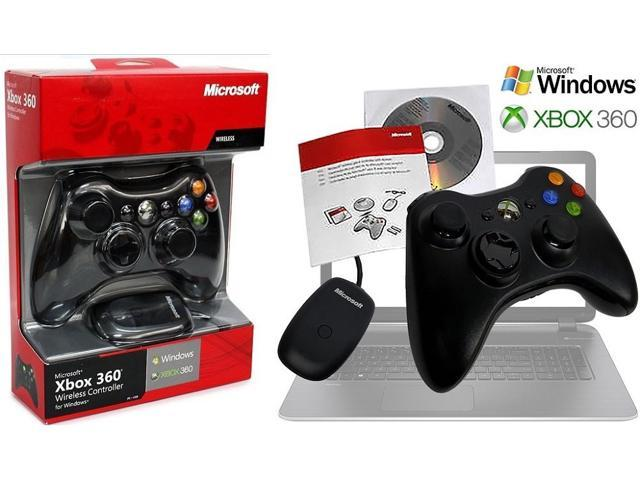 Microsoft Xbox 360 Wireless Controller Gamepad and USB Transceiver ...