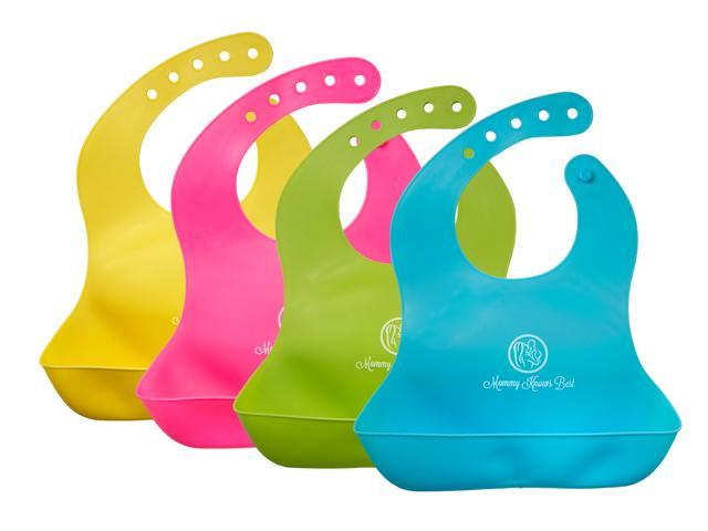 Mommy Knows Best Waterproof Comfortable Soft Baby Bib with Large Pockets bb996f77bdce