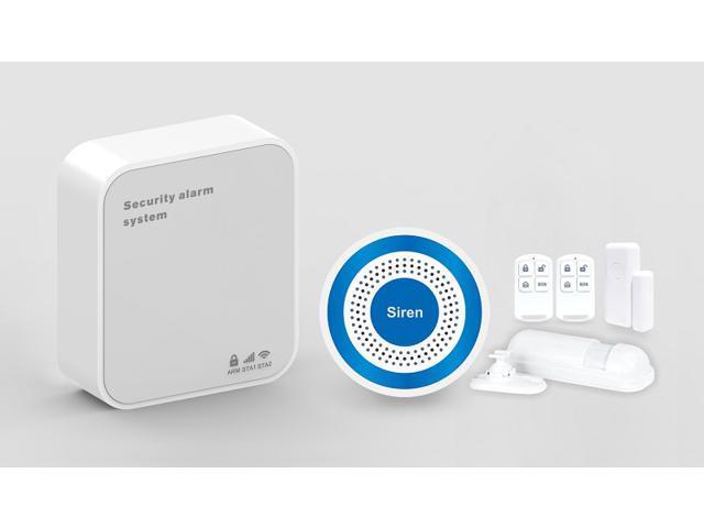 Smart Home Security Wifi+GSM/GPRS Alarm System Wireless PIR detector+1  wireless door sensor+1 Indoor wireless siren+2 Remote controllers -  Newegg com