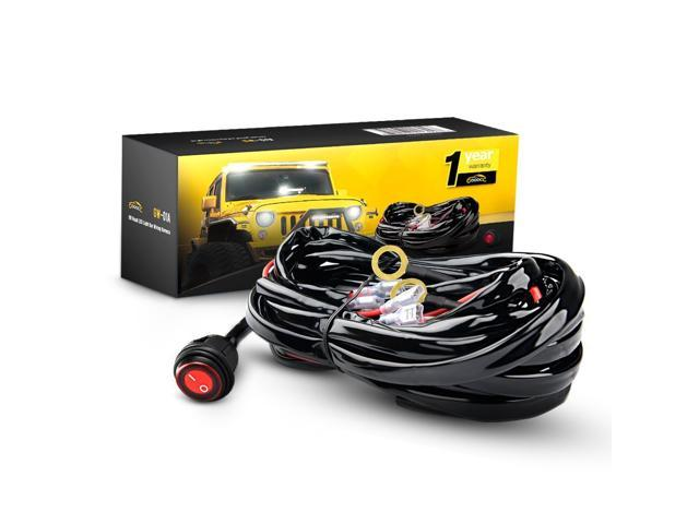 GOOACC Off Road LED Light Bar Wiring Harness Kit 12V On off ... on engine harness, atv led light harness, rigid industries light harness, suspension harness, buggy harness, safety harness, trailer harness, 4 point harness, utility harness, seat belt harness,