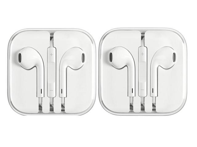 0a95cb1ee40 2 Pack - Apple Earphones for iPhone 6 5 4S w/ Remote & Mic - Newegg.com