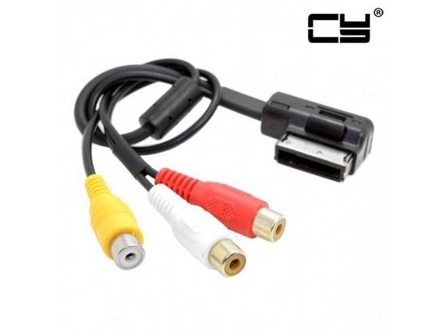 Chenyang AMI MMI to 3 RCA Audio Video Cable Female DVD video and audio  input cable For Audi A1 A7 A8 VW Car - Newegg com