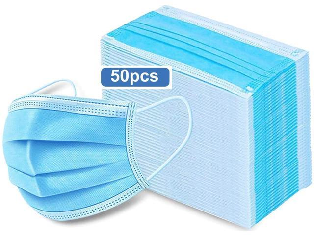 Disposable Mask, Anti Dust Breathable Disposable Earloop Mouth Face Mask, 3-Layer Sanitary Mask 50Pcs in Blank Bag Most customers receive within 20-30days, Please consider carefully before buying