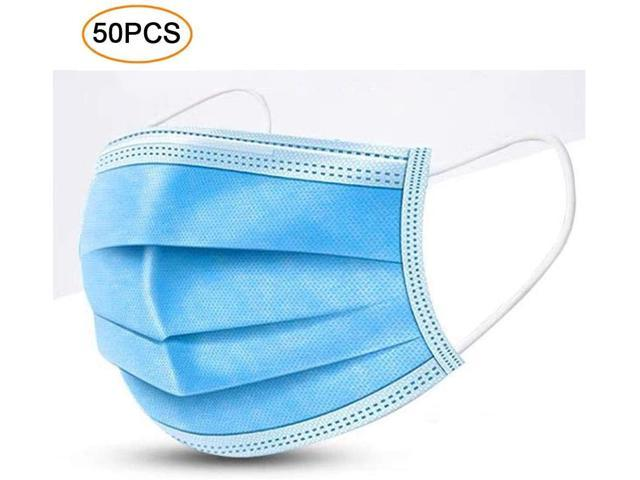 Disposable Mask 50pcs for Personal Daily Use, 3-Layer Breathable Disposable Earloop Face Mask, ANTI Dust Sanitary Mask Most customers receive within 20-30days, Please consider carefully before buying