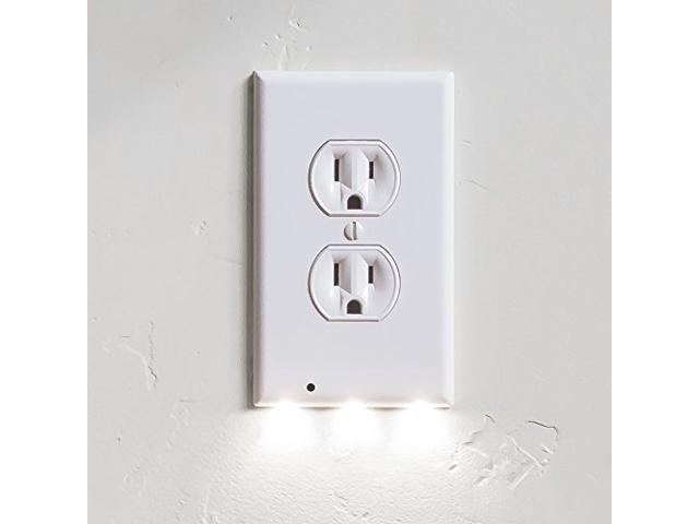 1 pack snappower guidelight outlet wall plate with led night 1 pack snappower guidelight outlet wall plate with led night lights no batteries or aloadofball Image collections