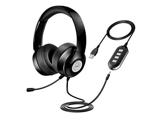 cfcf22431be Vtin Headset with Microphone, USB Headset/ 3.5mm Computer Headphone Gaming Headset  Noise Cancelling