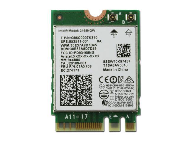 refurbished intel ac 3168ngw dual band wifi bt 4 2 ngff m2 for hp